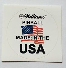 Williams flipper made in usa decal pour plateau en verre