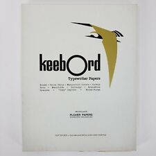 Vintage Keebord Typewriter Papers 58 Sheets Thesis Ruled Paper Artesian Bond
