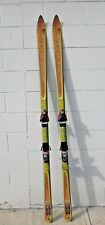 Vntge Dynastar 69 Power Grip Coupe Skis Orange Yellow Salomon Bindings  Untested