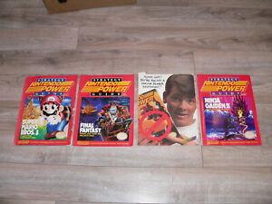 Lot of 4 Nintendo Power Strategy Guides~Super Mario Bros 3, Final Fantasy, etc.