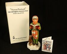"Norman Rockwell Figurine ""Carroler"" ~ 1973 Dave Grossman Cover Collection, #NR-3"