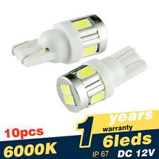 10x Super Bright T10 Wedge 5630 6SMD LED Light Bulb 194 168 175 2825 W5W 158 161