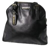 Cynthia Rowley Shoulder Tote Bag Large Black Leather  Safffiano Dome shape