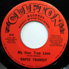 RAPID TRANSIT 45 My Own True Love / Living Just For You NEAR MINT Doo Wop e6548