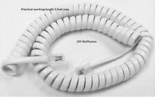 Generic White Short (9') Handset Cord Phone Coil 4P4C RJ9 Landline New in Bag