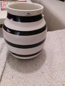 Kähler design vase omaggio schwarz weiß gestreift 20cm