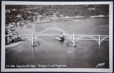 17-158 Yaquina Bringe - Oregon Coast Highway. Kodak stamp box, Sawyers, RPPC pos