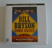 Down Under: by Bill Bryson - Unabridged Audiobook - 10CDs