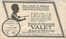 W1685 Rasoio VALET AutoStrop - Pubblicità del 1926 - Old advertising