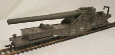 Vintage Pre-Owned AHM HO Gauge Scale US ARMY BIG GUN Train Car Model #114