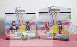 HeroWorld Teen Titans Go! 2pk Nightwing & Batman and Starfire & Blackfire Lot x2
