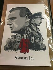Schindler's List Screen Print Limited Edition of # / 60 Size 20 x 30 Inches Rare