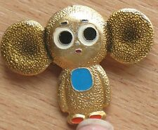 Cheburashka Russian CARTOON HERO pin Buttons badge Child Kid Children Cutie Old