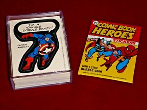 1975 Topps MARVEL COMIC BOOK HEROES STICKERS - Complete NM/M set of 40 - 1974