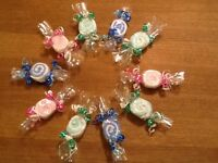 Job lot x 10 Baby Wash Cloth Sweeties,Ideal for Christening Favours,Baby Showers