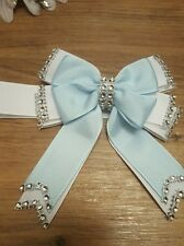 Pram charm car seat boy blue  romany bling bow you  choose which side magnetic