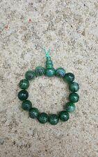 Wooden Buddha Bracelet ..green