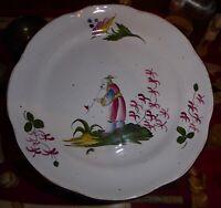 Ancienne assiette faïence de l'est décor au chinois