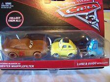 Disney Cars 3 - 2 pack Chester Whipplefilter & Luigi & Guido - New & Rare