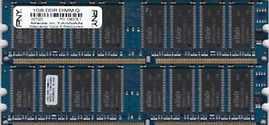 2GB 2x1GB PC-3200 PNY ELIXIR BLUE DDR-400 Ram KIT A0TQD M2Y1G64DS8HB1G-5T DDR1