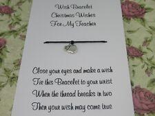 Teacher Christmas Wishes Wish Bracelet Gift Tibetan Apple Charm Anklet Present