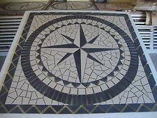 Rosace/Mosaique en carrelage 120x120cm  Rose des vents