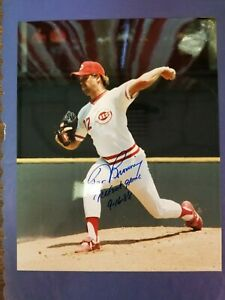 """TOM BROWNING 8"""" x 10"""" AUTOGRAPHED PICTURE W/ """" PERFECT GAME(PG) 9.16.88"""" REDS"""