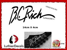 BC Rich Guitar Decal Headstock Decal Restoration Waterslide Logo 273b