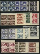 Greece  Scott # 587-600 Block of 4  MNH  Value $ 476.00 US $$