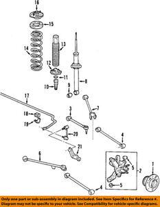 Acura HONDA OEM 01-03 CL Stabilizer Sway Bar-Rear 52300S0KA01