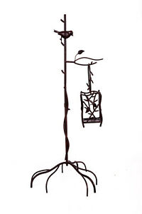 Clearance Metal Bird and Cage Tree Stand Event Decor Centrepiece Home Vintage