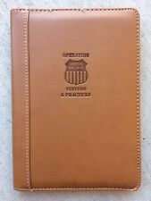 Light Brown Faux Leather Notepad Organizer - Trim & Lightweight