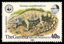 """GAMBIA 432 (SG460) - WWF Abuko Reserve """"Bosc's Monitor"""" (pf5230)"""