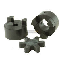 "3/4"" x 3/4"" Shaft Flexible Jaw Coupler & Rubber Spider L075 Lovejoy Coupling Set"