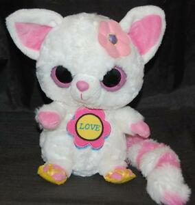 Aurora Handmade YooHoo  Friends White Pink Love Sound  Stuffed Animal Lovey Rare
