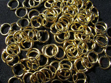 Jump Ring Jumpring Connectors Opened Gold Silver 22ga, 5 Sizes, 100 to 1000 Qty