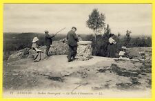 cpa 77 - NEMOURS (Seine et Marne) ROCHERS BEAUREGARD TABLE d' ORIENTATION Animée