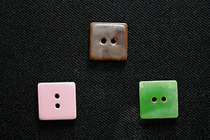 36 VINTAGE DEADSTOCK 1930'S 5/8 INCH SQUARE BAKELITE TYPE BUTTONS