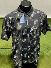 Under Armour Iso-Chill Birds of a Feather Golf Polo Shirt Black XL New #75723