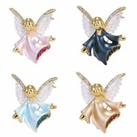 Chic Crystal Music Angel Wing Wedding Bouquet Brooch Pin Jewlery Party Lady Gift