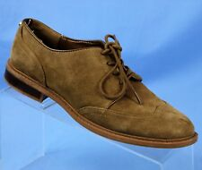 ed7ef782b26c TOMMY HILFIGER Jaynnie Brown Suede Leather Wingtip Oxford Womens Size 7.5 M