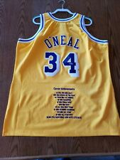 Shaquille O'Neal Los Angeles Lakers Autographed Jersey UD Career Achievements