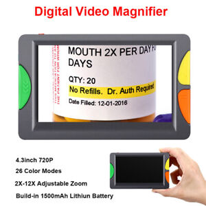 Pro Eyoyo Digital Electric Magnifier 2-12X 6 Color Fit Low Visually Reading kits