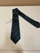 Men's Blue/Green Isaia Tie - Brand New