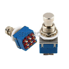 1/2/5/10PCS 9-pin 3PDT Guitar Effects Pedal Box Stomp Bypass Metal Foot Switch