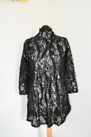H&M Sheer Black Lace Dress Backless 3/4 Sleeve Sequinned Size S BNWT RRP £49.99