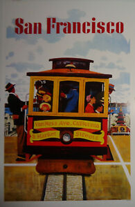 San Francisco - Van Ness & Market streets Cable Car - Window card Poster
