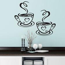 Taza de Café Té Etiquetas de pared Arte Vinilo Decoración Cocina Restaurante