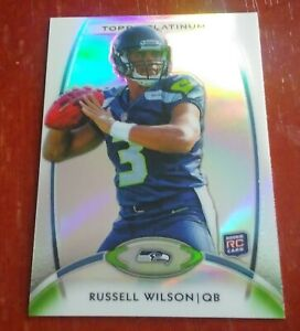 2012 Topps Platinum Russell Wilson # 138 RC Rookie Card. PSA Ready