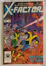 "X-Factor #1 Marvel (1985) ""Baptism of Fire"", (1st Appearance as X-Factor) VF!"